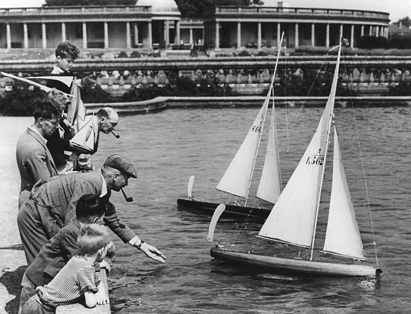 Yachts on the boatpond, 1941.
